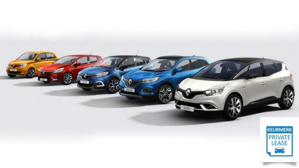 Private Lease al een Renault vanaf € 229,- per maand